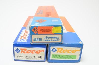 Lot 615 - Three boxed Roco HO-gauge trains.