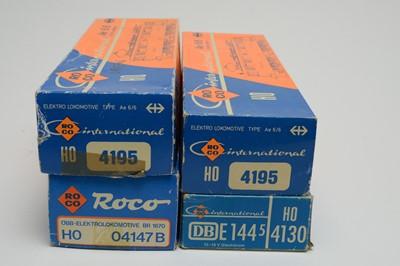 Lot 616 - Four boxed Roco International HO-gauge trains.