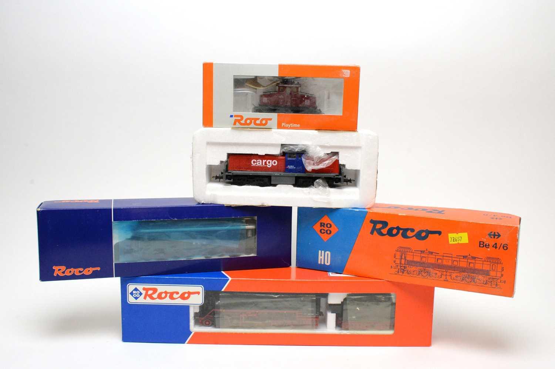 Lot 617 - Five Roco HO-gauge trains.