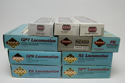 Lot 618 - Eleven Proto 2000 Series limited edition HO-gauge trains.