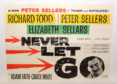 "Lot 1281 - British quad movie poster for ""Never Let Go"""