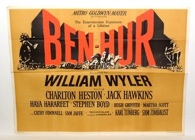 """Lot 1282 - British quad movie poster for """"Ben-Hur"""""""