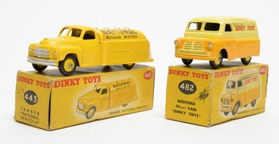 Lot 821 - Dinky Toys Bedford Van 'Dinky Toys' and Tanker National Benzyl