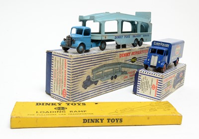 Lot 836 - Dinky Toys Guy Van 'Ever Ready', and  Pullmore car transporter