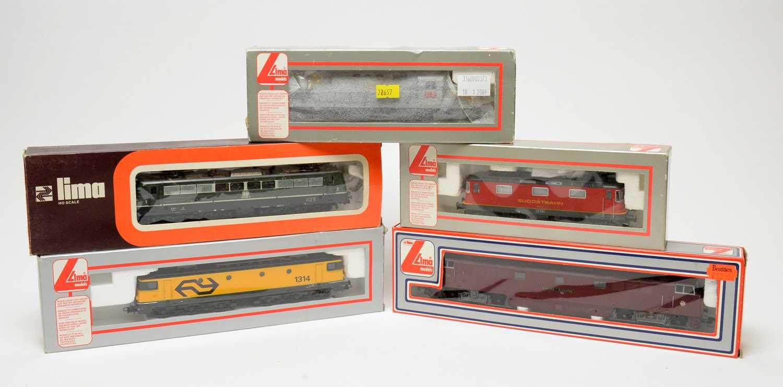 Lot 625 - Five LIMA model trains, European Outlines.