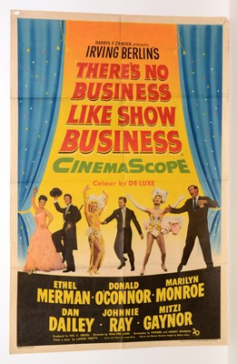 """Lot 1278 - British movie poster for """"There's No Business Like Show Business"""""""