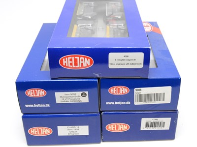 Lot 644 - Five Heljan 00-gauge boxed trains and rolling stock.
