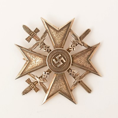 Lot 474 - WWII Third Reich Spanish Cross, silver