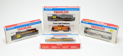 Lot 665 - Walthers Train Line HO-gauge trains and rolling stock.