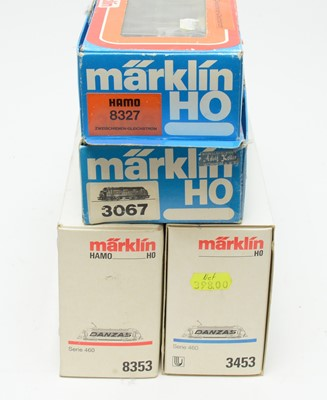 Lot 670 - Four Marklin HO-gauge boxed trains.