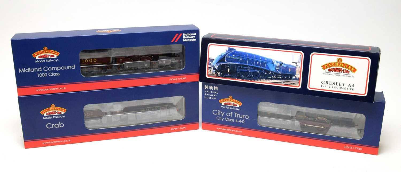 Lot 678 - Four Bachmann 00-gauge Branchline Model Railway boxed locomotives.