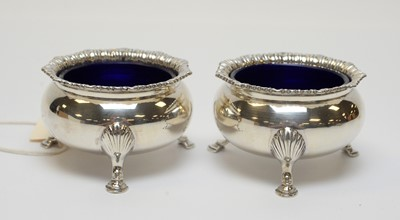 Lot 77 - A pair of  Edward VIII silver salts.