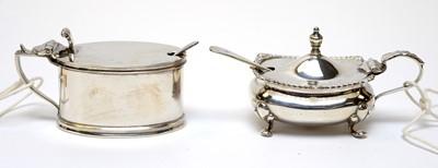 Lot 75 - Two silver mustard pots.