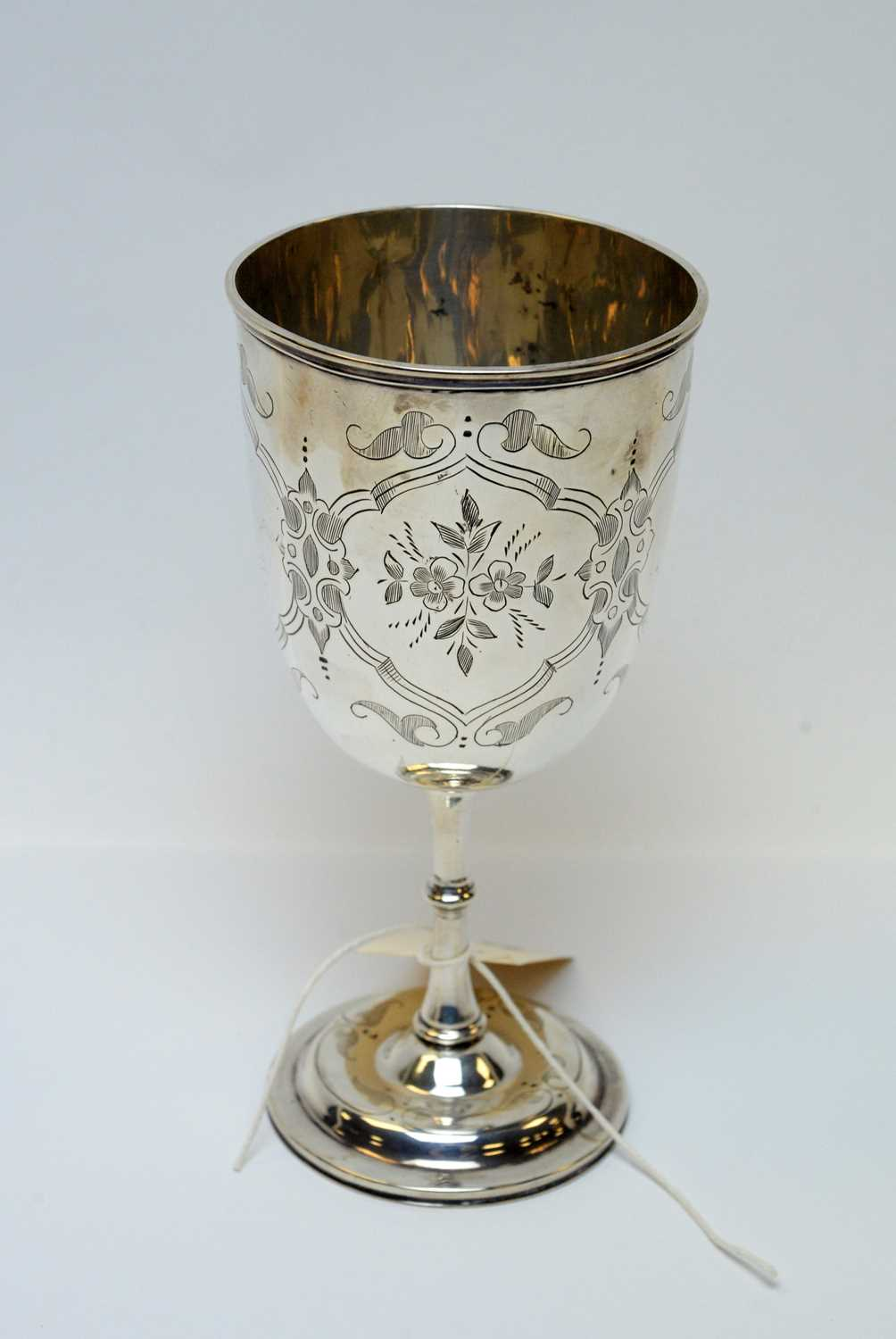 Lot 74 - A Victorian silver chalice.
