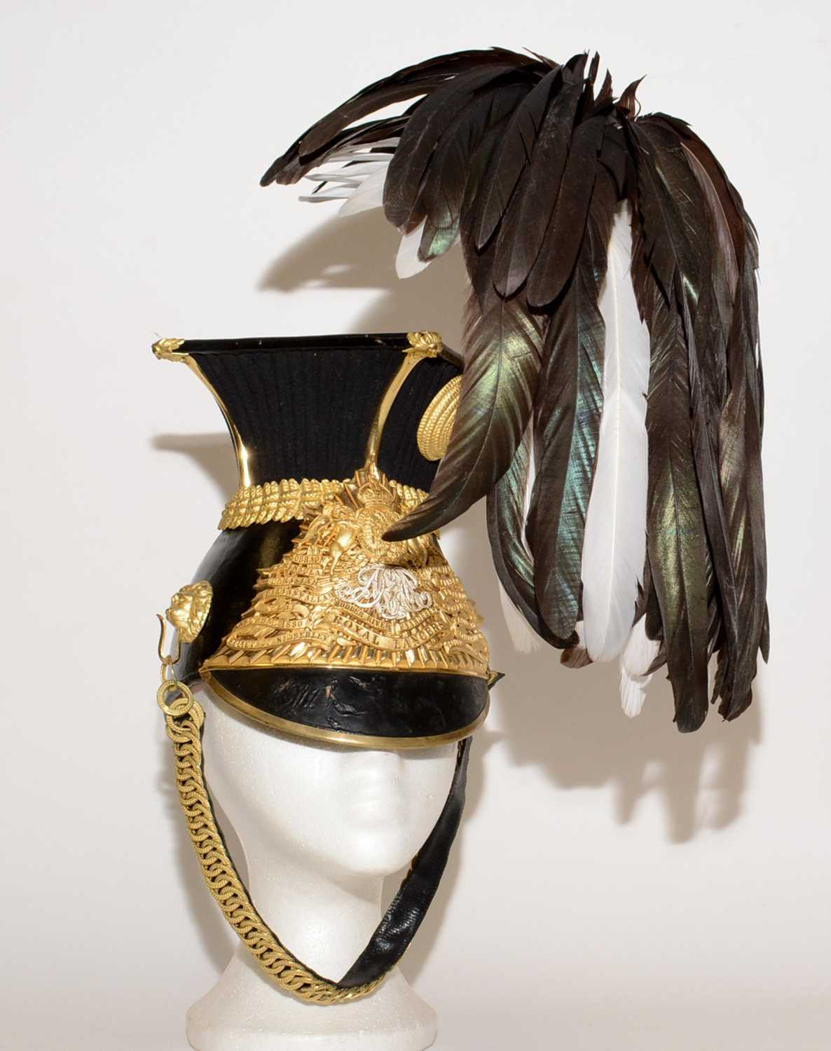 Lot 1065 - A post 1902 officer's lance cap of the 9th (Queen's Royal) Lancers