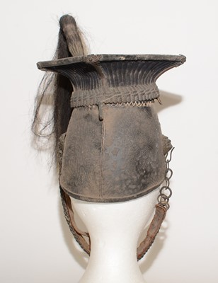 Lot 1066 - A post 1902 officer's lance cap of the 9th (Queen's Royal) Lancers