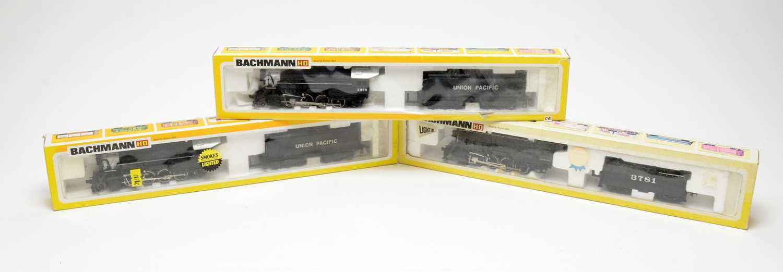 Lot 693 - Three Bachmann HO-gauge boxed trains.