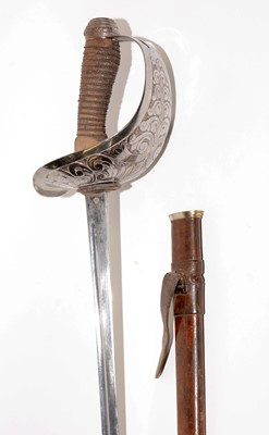 Lot 1069 - WWI Cavalry Officer's sword, 1912 pattern, and effects