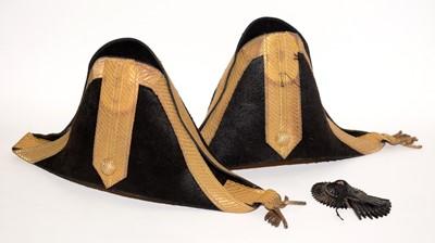 Lot 1198 - Two high hopped Court bicorn hats