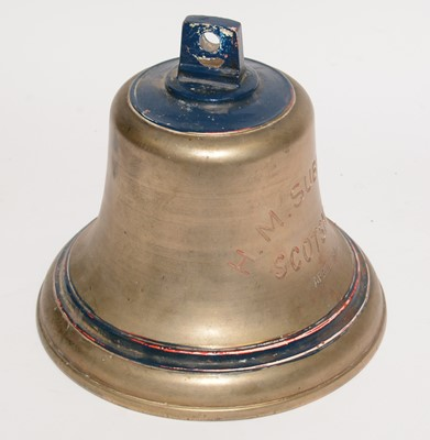 Lot 1072 - A Second World War production brass ships bell.