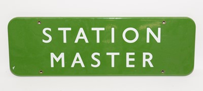 Lot 1218 - A British Railways (BR) Southern enamelled Station Master sign