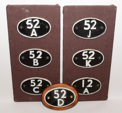 Lot 1219 - Various carriage plates