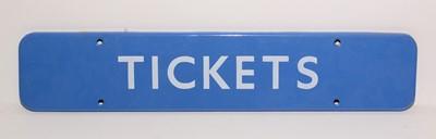 Lot 1221 - British Railways (BR) Scottish Tickets sign
