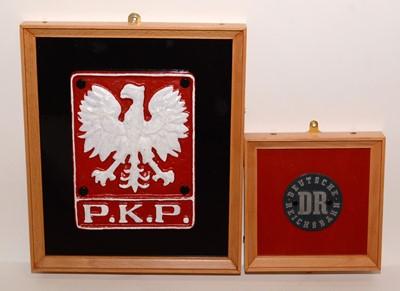 Lot 1225 - Polish Railways and Deutsche Reichsbahn plaques