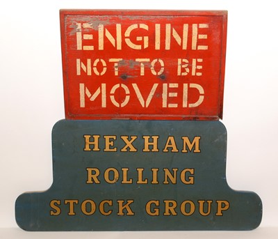 Lot 1209 - British Railways (BR) wooden sign and another