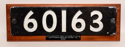 Lot 1211 - Carriage number plate from 60163