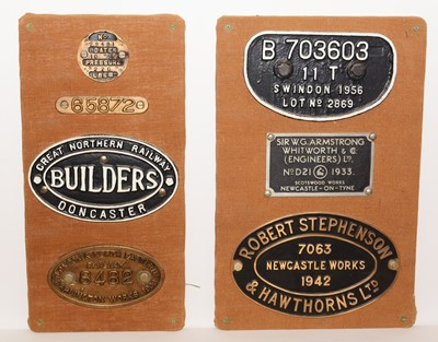 Lot 1215 - A selection of railway plates