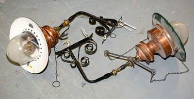 Lot 1217 - A pair of late 19th-century railway station gas lights