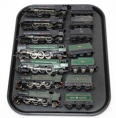 Lot 767 - Seven 00-gauge unboxed locomotives and tenders.