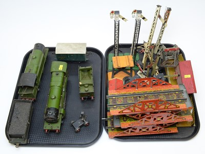 Lot 774 - Hornby tank loco and tender; and other items.