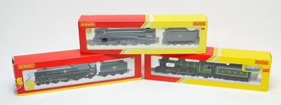 Lot 791 - Three boxed Hornby 00-gauge locomotives and tenders.