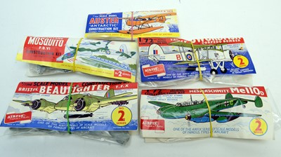 Lot 797 - Five early bagged Airfix model construction kits of military aircraft.