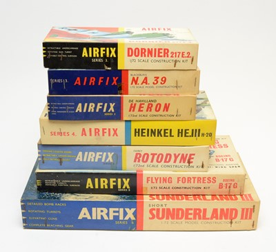 Lot 801 - Seven boxed Airfix model construction kits.