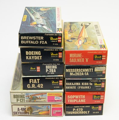 Lot 804 - Eleven boxed Revell and Matchbox model construction kits.