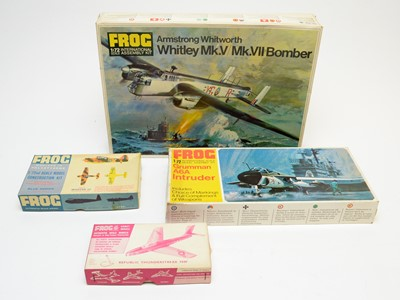 Lot 808 - Four boxed Frog model construction kits.
