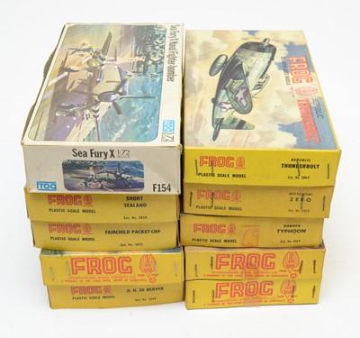 Lot 810 - Ten boxed Frog model construction kits.