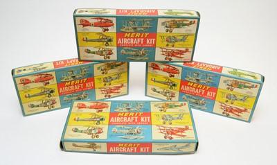Lot 811 - Four boxed Merit model aircraft kits.