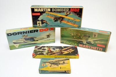 Lot 813 - Five boxed Kleeware, Hawk & Gebr. Saller model construction kits.