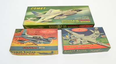 Lot 815 - Three boxed Comet Series scale model kits.