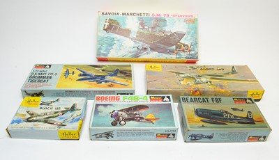 Lot 816 - Six boxed Heller and Monogram Series model constructions kits.