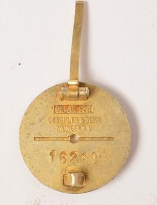 Lot 1054 - WWII German National Sozialistische DAP lapel badge