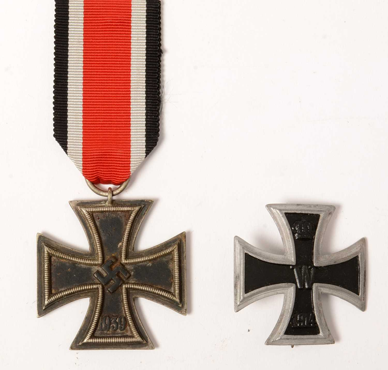 Lot 1018 - WWI Iron Cross and WWII Iron Cross