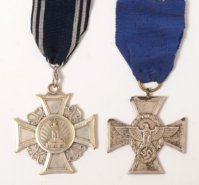 Lot 1020 - WWII Prussian Veterans' Association Honour Cross and Police Long Service award
