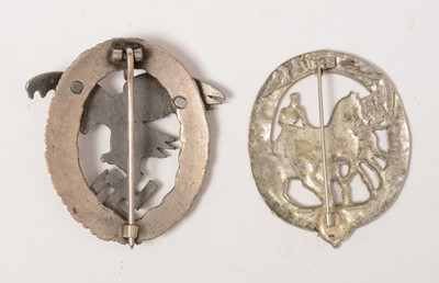 Lot 1024 - Two reproduction WWII German award badges
