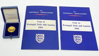 Lot 1265 - An International Friendly football medal, Italy versus England 24 May 1961