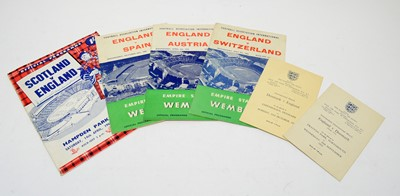 Lot 1270 - England International programmes and effects